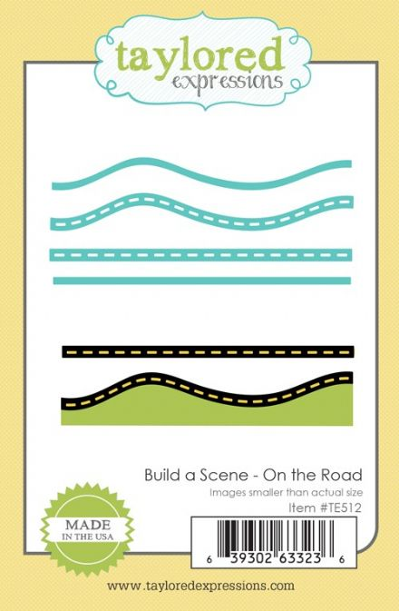 TE512 ~ BUILD A SCENE - ON THE  ROAD ~ dies by Taylored Expressions